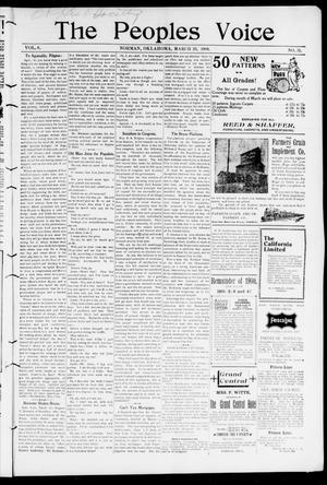The Peoples Voice (Norman, Okla.), Vol. 8, No. 35, Ed. 1 Friday, March 23, 1900