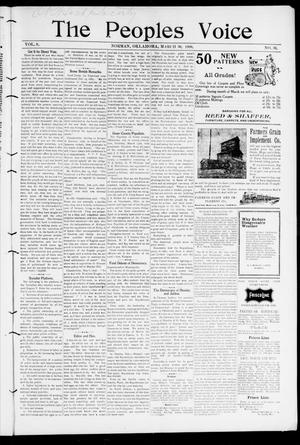 The Peoples Voice (Norman, Okla.), Vol. 8, No. 36, Ed. 1 Friday, March 30, 1900