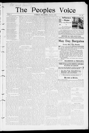 The Peoples Voice (Norman, Okla.), Vol. 8, No. 43, Ed. 1 Friday, May 18, 1900