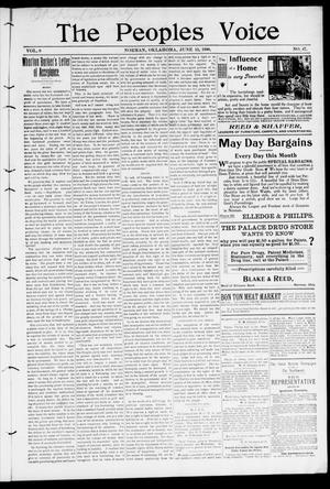 The Peoples Voice (Norman, Okla.), Vol. 8, No. 47, Ed. 1 Friday, June 15, 1900