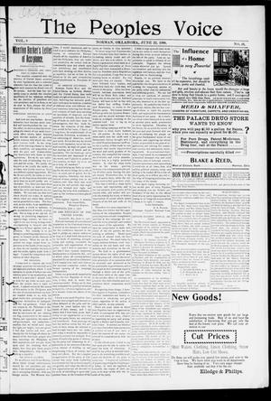 The Peoples Voice (Norman, Okla.), Vol. 8, No. 48, Ed. 1 Friday, June 22, 1900
