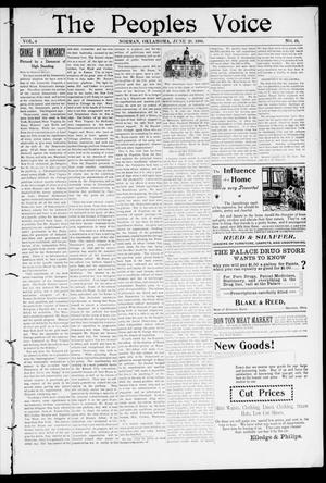 The Peoples Voice (Norman, Okla.), Vol. 8, No. 49, Ed. 1 Friday, June 29, 1900