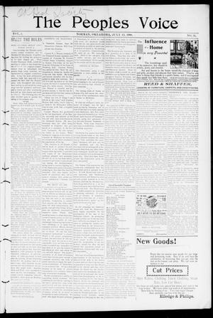 The Peoples Voice (Norman, Okla.), Vol. 8, No. 51, Ed. 1 Friday, July 13, 1900
