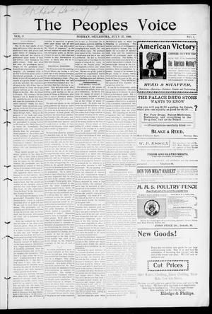 The Peoples Voice (Norman, Okla.), Vol. 9, No. 1, Ed. 1 Friday, July 27, 1900