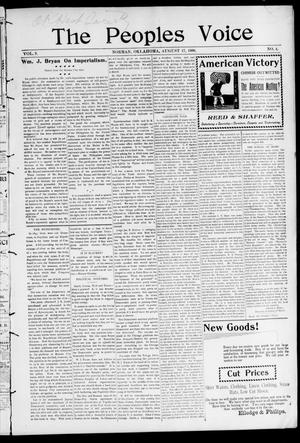 The Peoples Voice (Norman, Okla.), Vol. 9, No. 4, Ed. 1 Friday, August 17, 1900