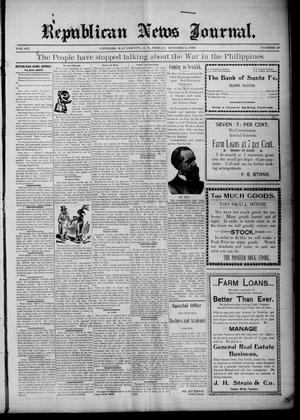 Primary view of object titled 'Republican News Journal. (Newkirk, Okla. Terr.), Vol. 6, No. 51, Ed. 1 Friday, October 6, 1899'.