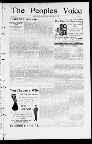 The Peoples Voice (Norman, Okla.), Vol. 9, No. 14, Ed. 1 Friday, October 26, 1900