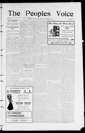 The Peoples Voice (Norman, Okla.), Vol. 9, No. 17, Ed. 1 Friday, November 16, 1900