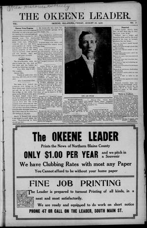 Primary view of object titled 'The Okeene Leader. (Okeene, Okla.), Vol. 5, No. 7, Ed. 1 Friday, August 19, 1910'.