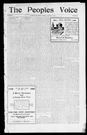 The Peoples Voice (Norman, Okla.), Vol. 9, No. 24, Ed. 1 Friday, January 4, 1901