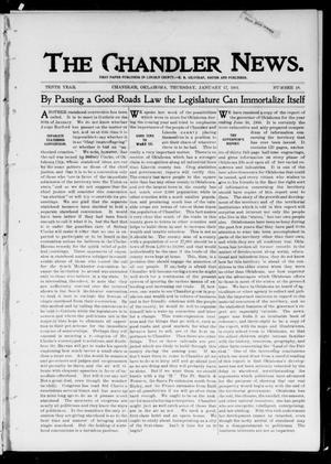 Primary view of object titled 'The Chandler News. (Chandler, Okla.), Vol. 10, No. 18, Ed. 1 Thursday, January 17, 1901'.