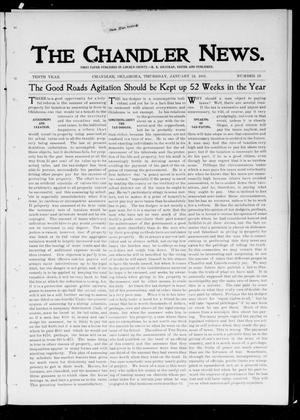 Primary view of object titled 'The Chandler News. (Chandler, Okla.), Vol. 10, No. 19, Ed. 1 Thursday, January 24, 1901'.