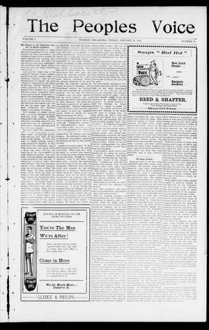 The Peoples Voice (Norman, Okla.), Vol. 9, No. 27, Ed. 1 Friday, January 25, 1901