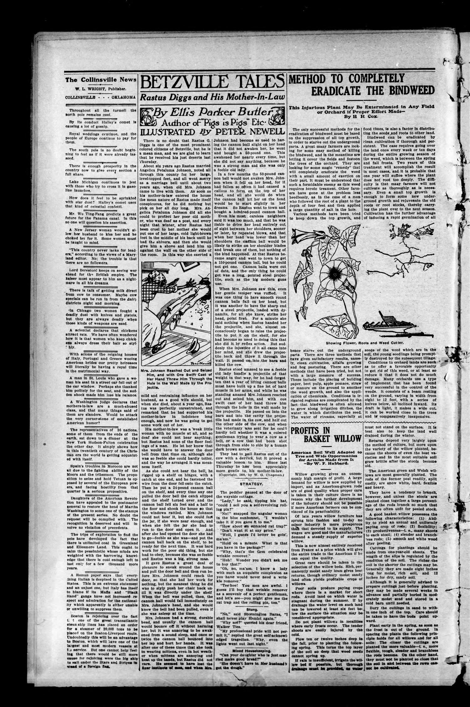 The Collinsville News. (Collinsville, Okla.), Vol. 11, No. 28, Ed. 1 Thursday, November 11, 1909                                                                                                      [Sequence #]: 2 of 8