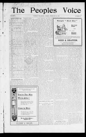 The Peoples Voice (Norman, Okla.), Vol. 9, No. 31, Ed. 1 Friday, February 22, 1901