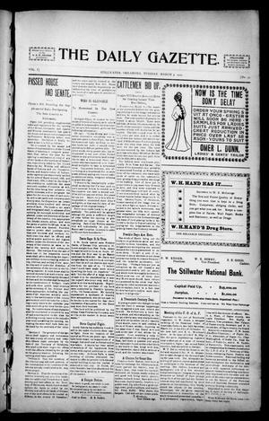 Primary view of object titled 'The Daily Gazette. (Stillwater, Okla.), Vol. 1, No. 25, Ed. 1 Tuesday, March 5, 1901'.