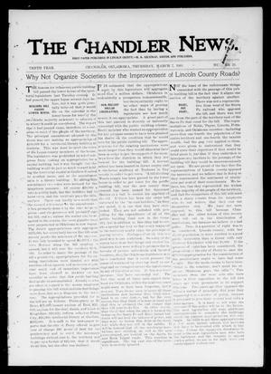 Primary view of object titled 'The Chandler News. (Chandler, Okla.), Vol. 10, No. 25, Ed. 1 Thursday, March 7, 1901'.