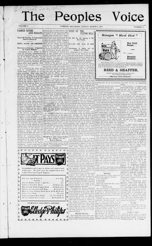 The Peoples Voice (Norman, Okla.), Vol. 9, No. 33, Ed. 1 Friday, March 8, 1901