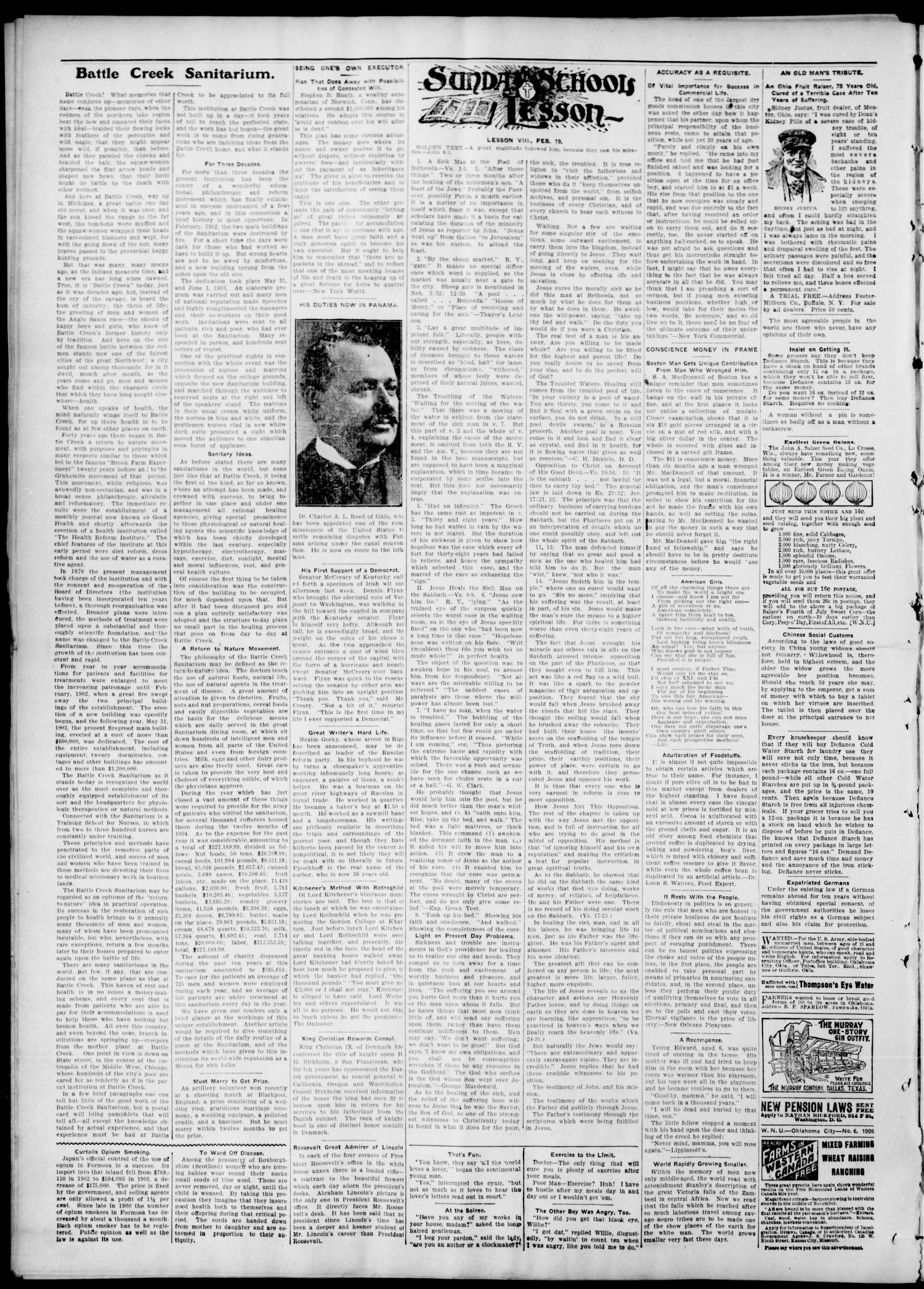 The Tulsa Chief. (Tulsa, Indian Terr.), Vol. 1, No. 50, Ed. 1 Tuesday, February 14, 1905                                                                                                      [Sequence #]: 2 of 10