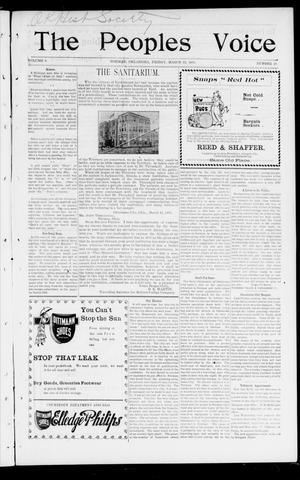 The Peoples Voice (Norman, Okla.), Vol. 9, No. 35, Ed. 1 Friday, March 22, 1901