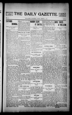 Primary view of object titled 'The Daily Gazette. (Stillwater, Okla.), Vol. 1, No. 42, Ed. 1 Sunday, March 24, 1901'.