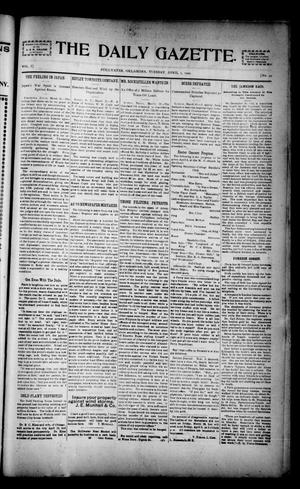 Primary view of object titled 'The Daily Gazette. (Stillwater, Okla.), Vol. 1, No. 49, Ed. 1 Tuesday, April 2, 1901'.