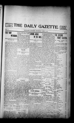 Primary view of object titled 'The Daily Gazette. (Stillwater, Okla.), Vol. 1, No. 50, Ed. 1 Wednesday, April 3, 1901'.