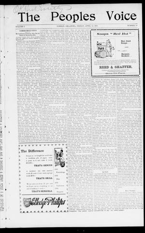 The Peoples Voice (Norman, Okla.), Vol. 9, No. 38, Ed. 1 Friday, April 12, 1901