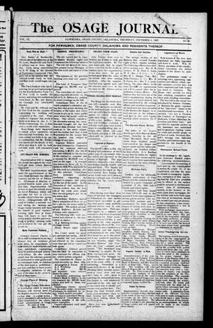 Primary view of object titled 'The Osage Journal. (Pawhuska, Okla.), Vol. 9, No. 26, Ed. 1 Thursday, December 5, 1907'.