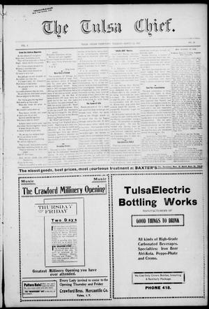 Primary view of object titled 'The Tulsa Chief. (Tulsa, Indian Terr.), Vol. 3, No. 52, Ed. 1 Tuesday, March 12, 1907'.