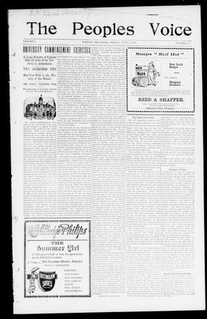 The Peoples Voice (Norman, Okla.), Vol. 9, No. 46, Ed. 1 Friday, June 7, 1901