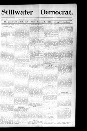 Primary view of object titled 'Stillwater Democrat. (Stillwater, Okla.), Vol. 14, No. 50, Ed. 1 Thursday, March 5, 1903'.