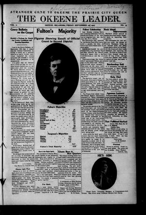 Primary view of object titled 'The Okeene Leader. (Okeene, Okla.), Vol. 2, No. 12, Ed. 1 Friday, September 27, 1907'.