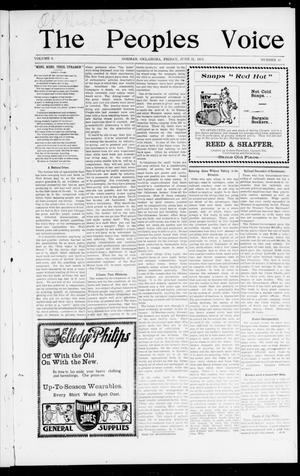 The Peoples Voice (Norman, Okla.), Vol. 9, No. 48, Ed. 1 Friday, June 21, 1901