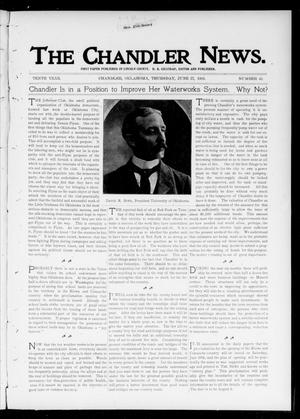Primary view of object titled 'The Chandler News. (Chandler, Okla.), Vol. 10, No. 41, Ed. 1 Thursday, June 27, 1901'.