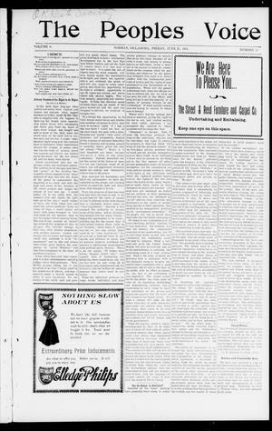 The Peoples Voice (Norman, Okla.), Vol. 9, No. 49, Ed. 1 Friday, June 28, 1901