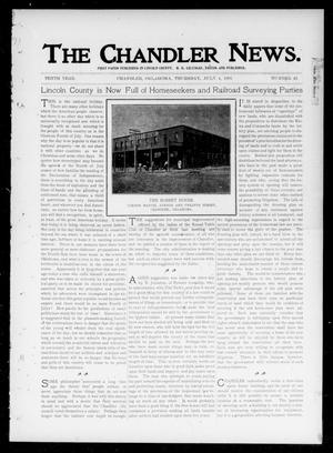 Primary view of object titled 'The Chandler News. (Chandler, Okla.), Vol. 10, No. 42, Ed. 1 Thursday, July 4, 1901'.