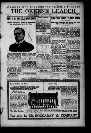 Primary view of object titled 'The Okeene Leader. (Okeene, Okla.), Vol. 2, No. 7, Ed. 1 Friday, August 23, 1907'.
