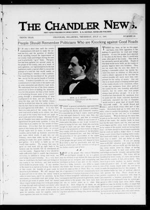 Primary view of object titled 'The Chandler News. (Chandler, Okla.), Vol. 10, No. 43, Ed. 1 Thursday, July 11, 1901'.