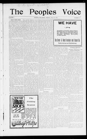 The Peoples Voice (Norman, Okla.), Vol. 9, No. 52, Ed. 1 Friday, July 19, 1901