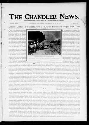 Primary view of object titled 'The Chandler News. (Chandler, Okla.), Vol. 10, No. 45, Ed. 1 Thursday, July 25, 1901'.