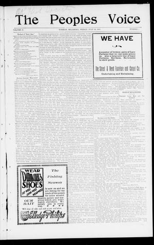 The Peoples Voice (Norman, Okla.), Vol. 10, No. 1, Ed. 1 Friday, July 26, 1901