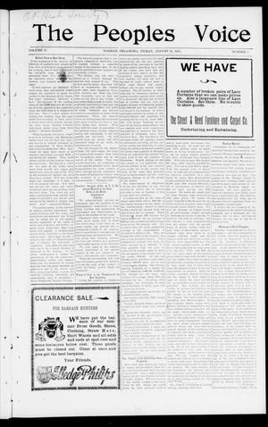 The Peoples Voice (Norman, Okla.), Vol. 10, No. 5, Ed. 1 Friday, August 23, 1901