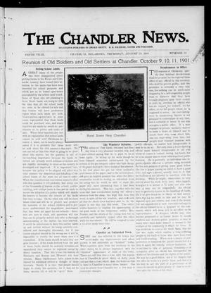 Primary view of object titled 'The Chandler News. (Chandler, Okla.), Vol. 10, No. 50, Ed. 1 Thursday, August 29, 1901'.