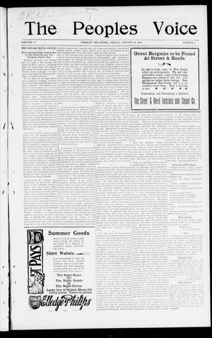 The Peoples Voice (Norman, Okla.), Vol. 10, No. 6, Ed. 1 Friday, August 30, 1901