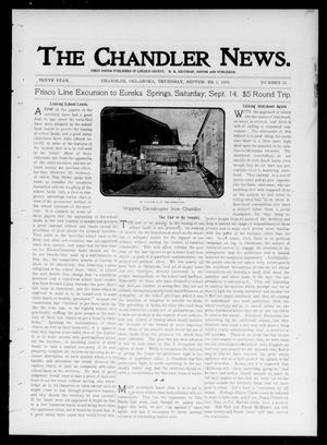 Primary view of object titled 'The Chandler News. (Chandler, Okla.), Vol. 10, No. 51, Ed. 1 Thursday, September 5, 1901'.