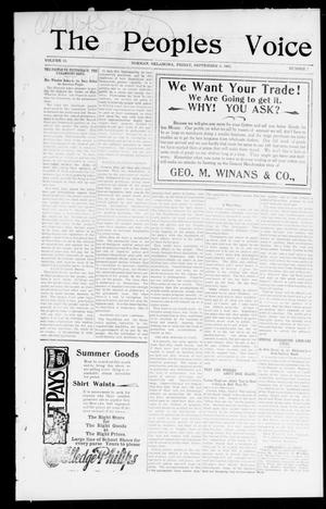 The Peoples Voice (Norman, Okla.), Vol. 10, No. 7, Ed. 1 Friday, September 6, 1901