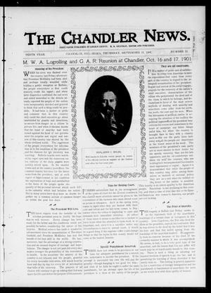 Primary view of object titled 'The Chandler News. (Chandler, Okla.), Vol. 10, No. 52, Ed. 1 Thursday, September 12, 1901'.