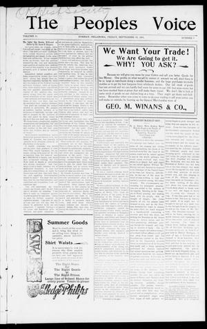 The Peoples Voice (Norman, Okla.), Vol. 10, No. 8, Ed. 1 Friday, September 13, 1901