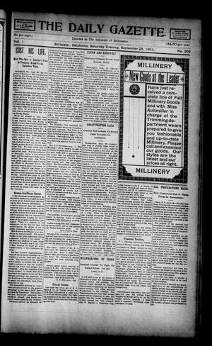Primary view of object titled 'The Daily Gazette. (Stillwater, Okla.), Vol. 1, No. 202, Ed. 1 Saturday, September 28, 1901'.